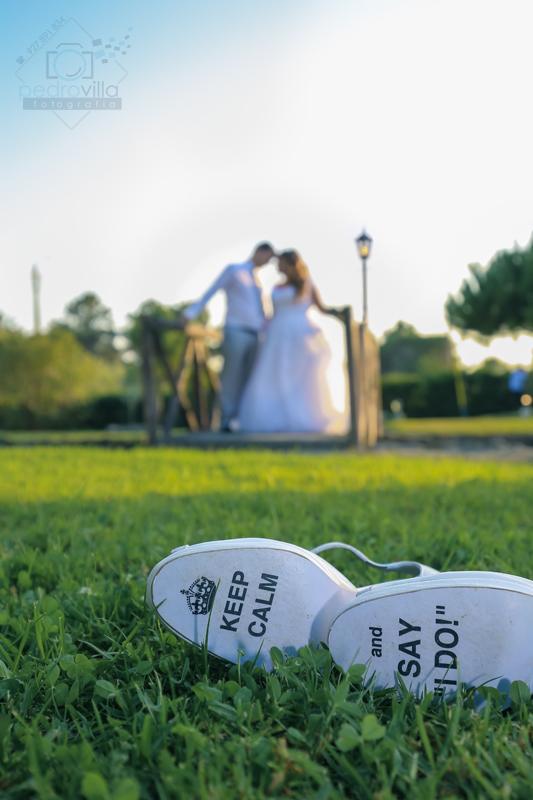 mensagem nos sapatos da noiva