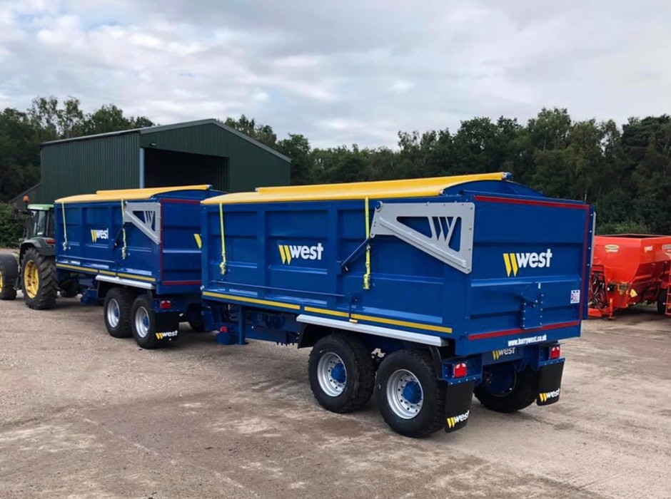 Harry West trailers heading out