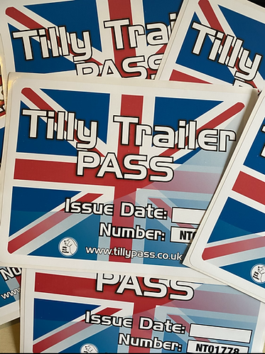 Pack of 5 New Trailer, Tilly Pass certificates