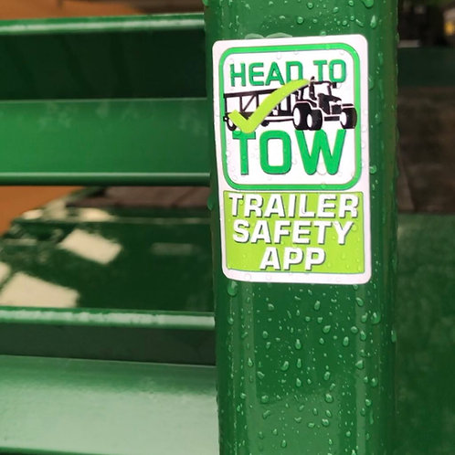 30 Head to Tow Trailer sticker