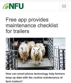 NFU Promote the #HeadtoTow App