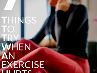 7 Things to Try When an Exercise Hurts
