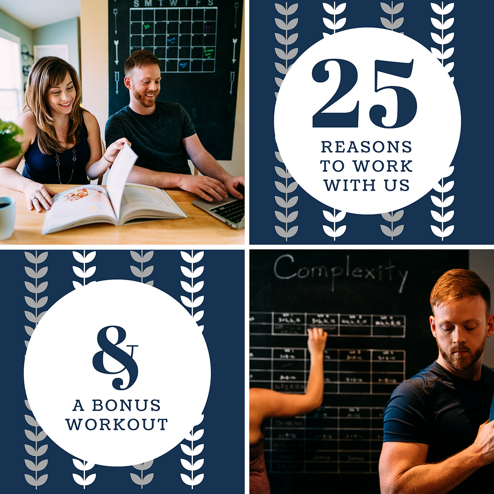 25 Reasons to work with us & a bonus workout