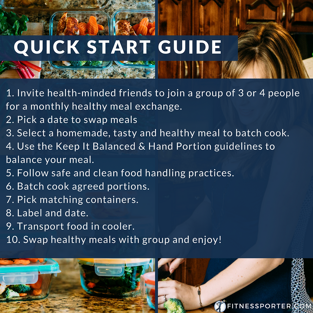 Quick start good to hosting a healthy meal exchange