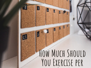 How Much Should You Exercise per Week?