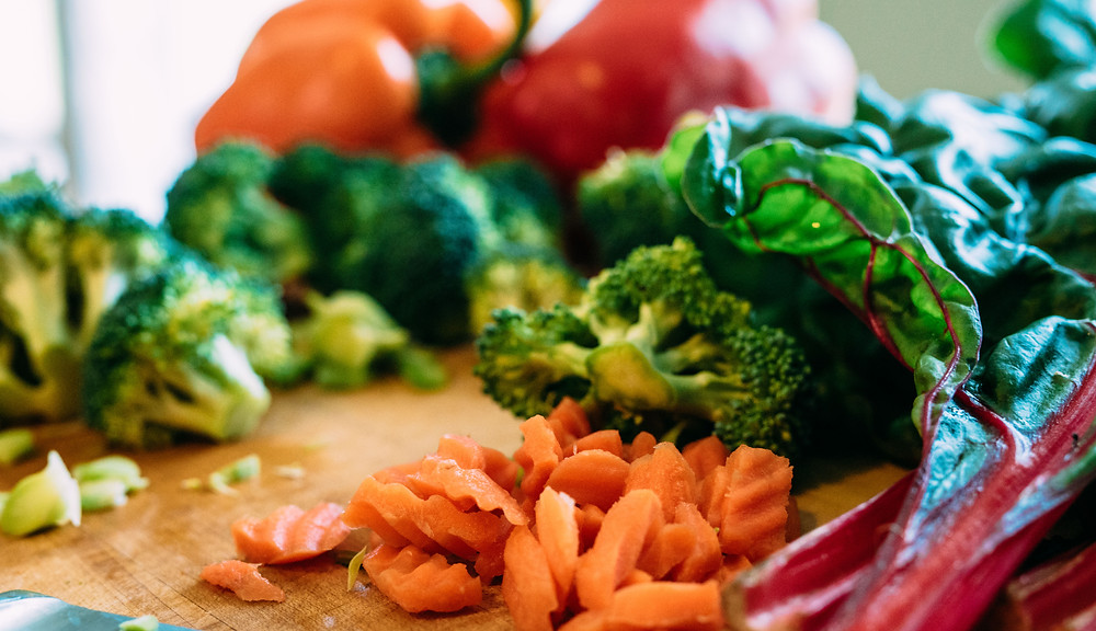 Nutritious, colorful vegetables