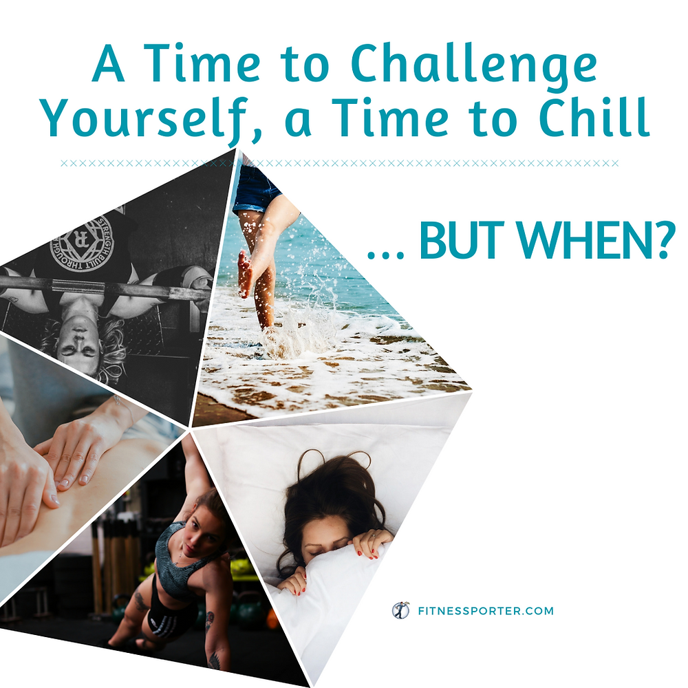 A time to challenge yourself, a time to chill..., but when?