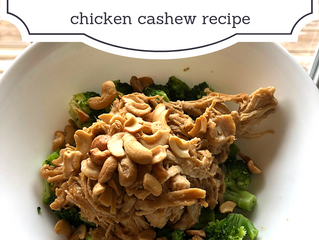 Control Your Carbs — Chicken Cashew Recipe