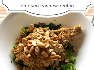 Control Your Carbs — Chicken Cashew Recipe