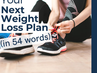 Your Next Weight Loss Plan (in 54 Words)
