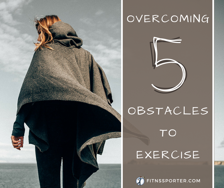 Woman in cape walking away, overcoming 5 obstacles to exercise