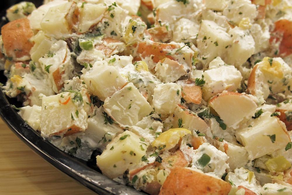 ealthier Creamy Potato Salad With Protein