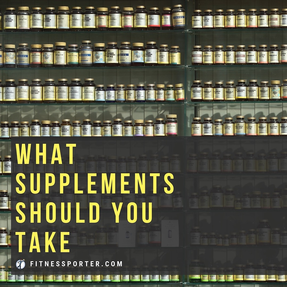 What supplements should you take? (Shelves of vitamins)