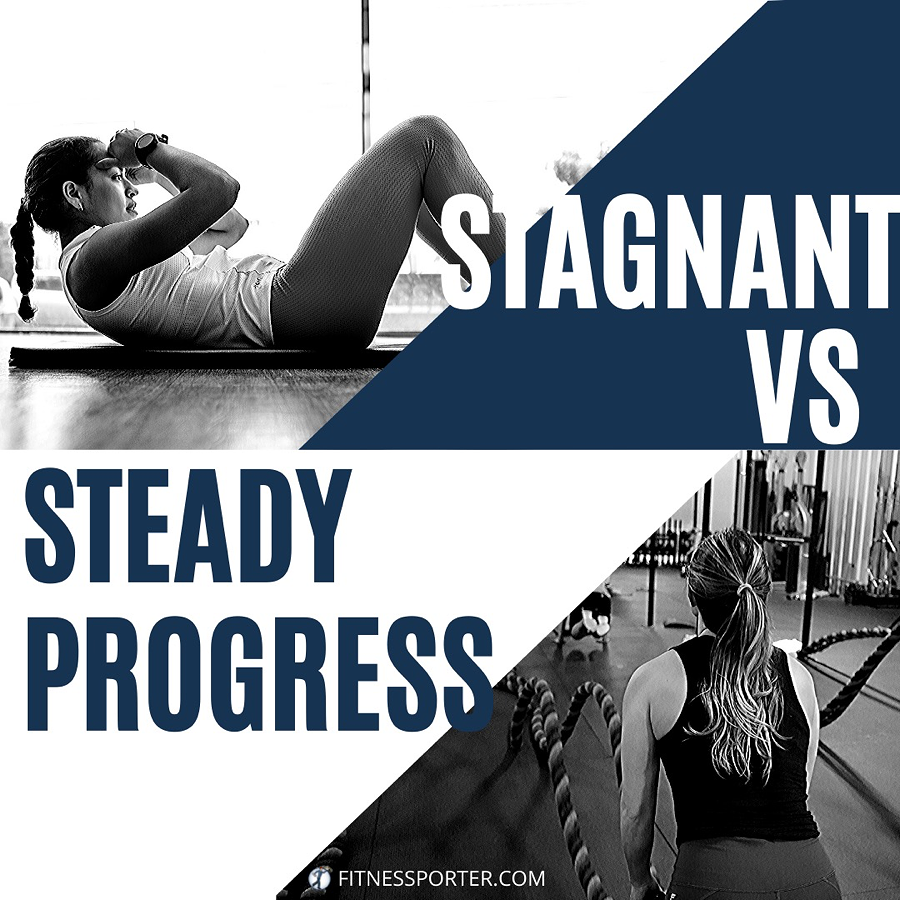 Stagnant vs Steady Progress