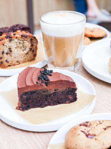 Vegan Chocolate Cake and Coffee