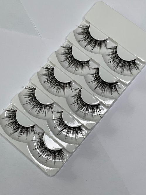 Luxury 6D Mink STRIP LASHES ( 5 pairs per box ) -6D05