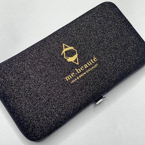 Magnetic tweezers case - Black glitter