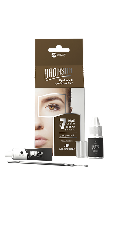 Bronsun Eyelash & Eyebrow Dye Homekit - Dark Brown