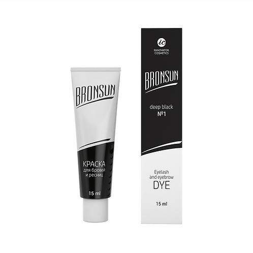 Bronsun Eyelash and Eyebrow Dye - Deep Black