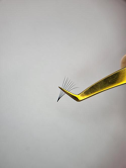 Russian Volume Tweezers - Thin Boots Gold N1