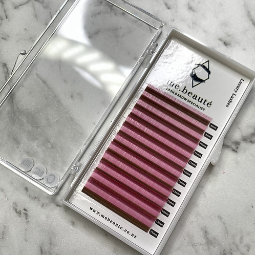 C ( 0.07 ) - Russian Volume LIGHT PINK lashes Mix size 8-15mm