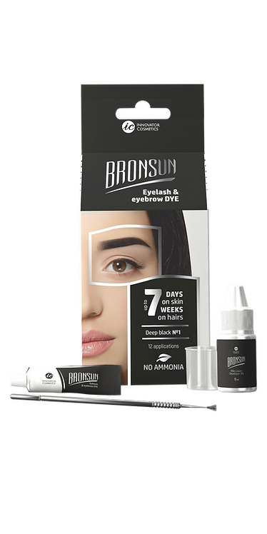 Bronsun Eyelash & Eyebrow Dye Homekit - Deep Black