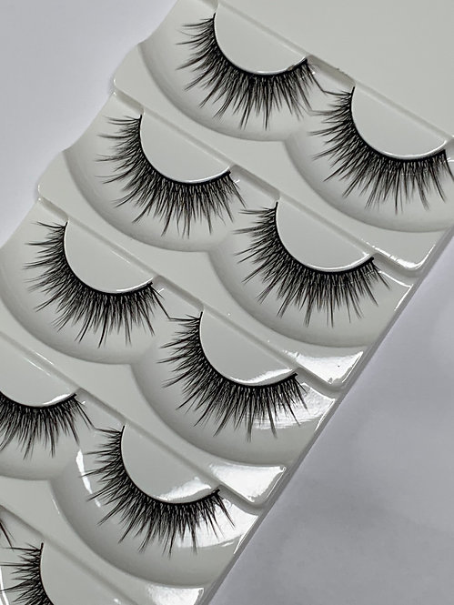 Luxury 6D Mink STRIP LASHES ( 5 pairs per box ) -6D01