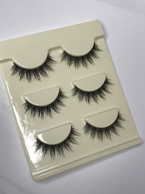 Makeup Strip Eyelashes 3 Pairs ( series 11 )