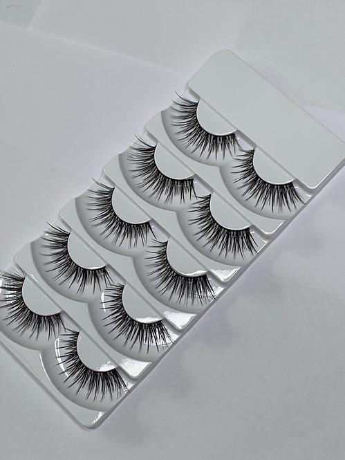 Luxury 6D Mink STRIP LASHES ( 5 pairs per box ) -6D04