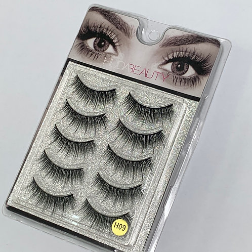 HUDA BEAUTY -  Strip Lashes ( 5 PAIRS per box ) - H09
