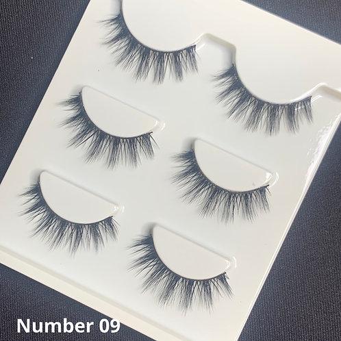Makeup Strip lashes ( 3 pairs per box )