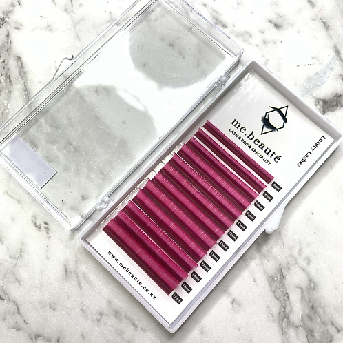 D(0.07 ) - Russian Volume PINK Lashes mix size 8-15mm