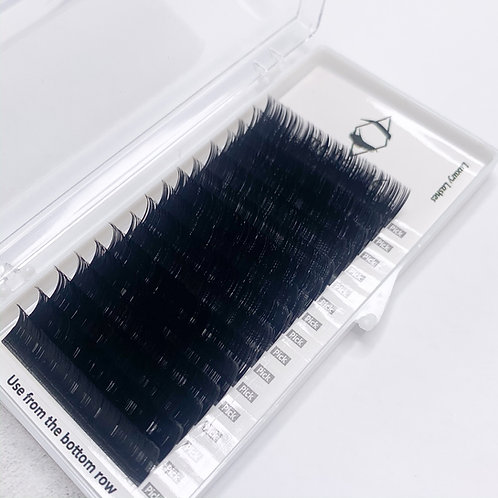 C (0.15 )- CLASSIC SILK LASHES SINGLE SIZE TRAY