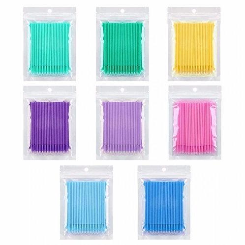 Disposable MICROBRUSH Eyelash Brushes Cleaning (100pcs/pack)