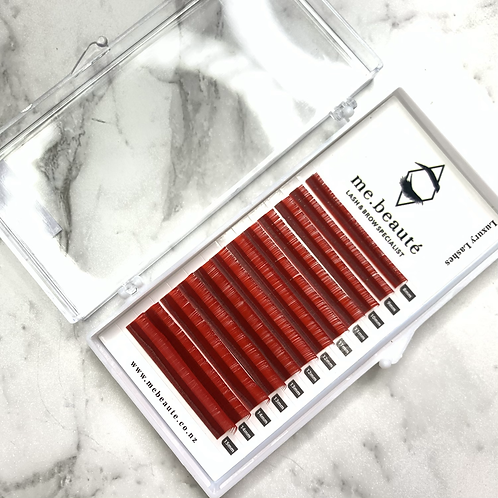 D(0.07 ) -  Russian Volume RED lashes mixed size 8-15mm