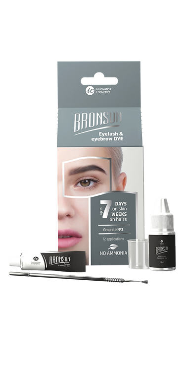 Bronsun Eyelash & Eyebrow Dye Homekit -Graphite