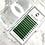 Thumbnail: D(0.07) - Russian Volume GREEN lashes Mix 8-15mm