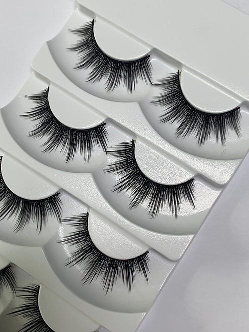 Luxury 6D Mink STRIP LASHES ( 5 pairs per box ) -6D02