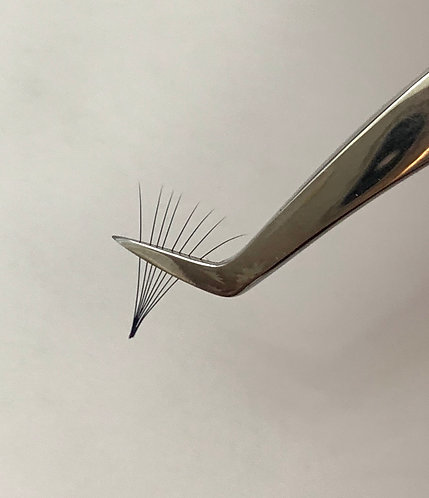 Russian Volume Silver Collection - Volume Angle  L curve tweezers N2