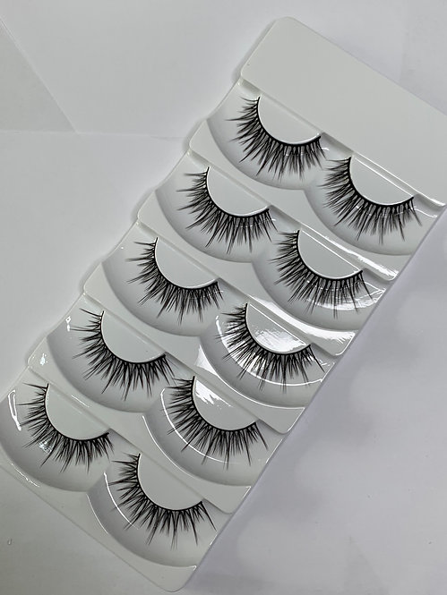 Luxury 6D Mink STRIP LASHES ( 5 pairs per box ) -6D12