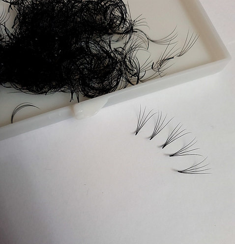 4D (0.10) Pre-made Volume Fans (Silk Lashes 1000 Fans per tray)