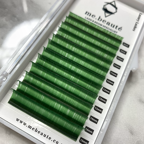 D(0.07) - Russian Volume GREEN lashes Mix 8-15mm