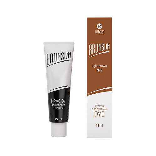 Bronsun Eyelash and Eyebrow Dye - LIGHT BROWN