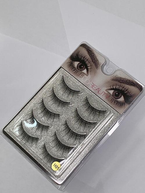 Huda Beauty Strip Lashes ( 5 PAIRS ) per box - H01