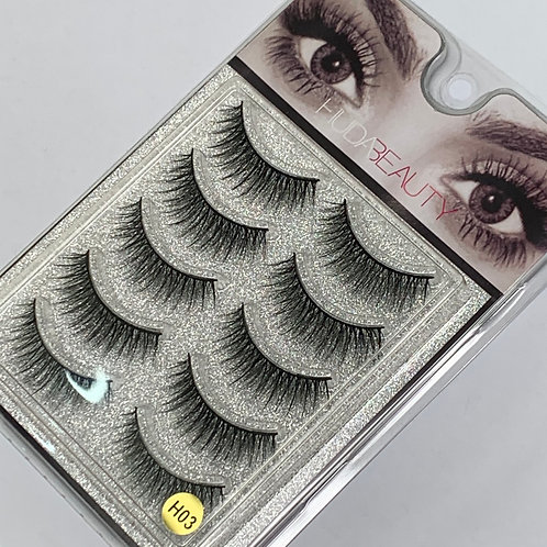 Huda Beauty Strip Lashes ( 5 PAIRS ) per box - H03