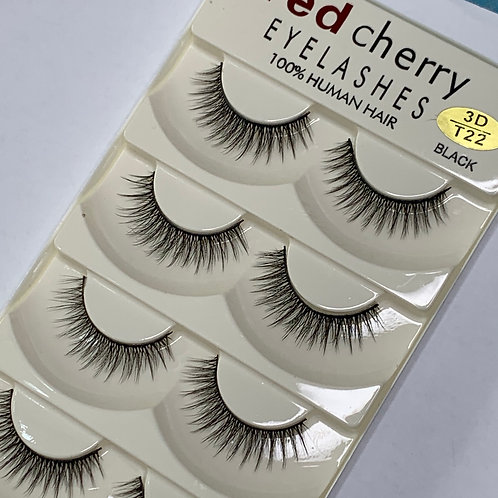 Strip Lashes ( 5 PAIRS per box ) - 3D T22