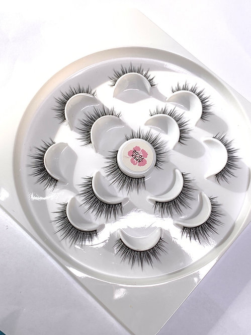 Luxury 7D Mink STRIP LASHES ( 7 pairs per box ) -7D02