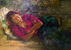 Balinese resting