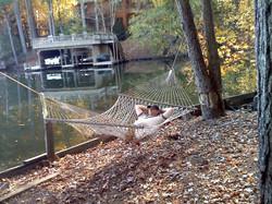 Relaxing at retreat