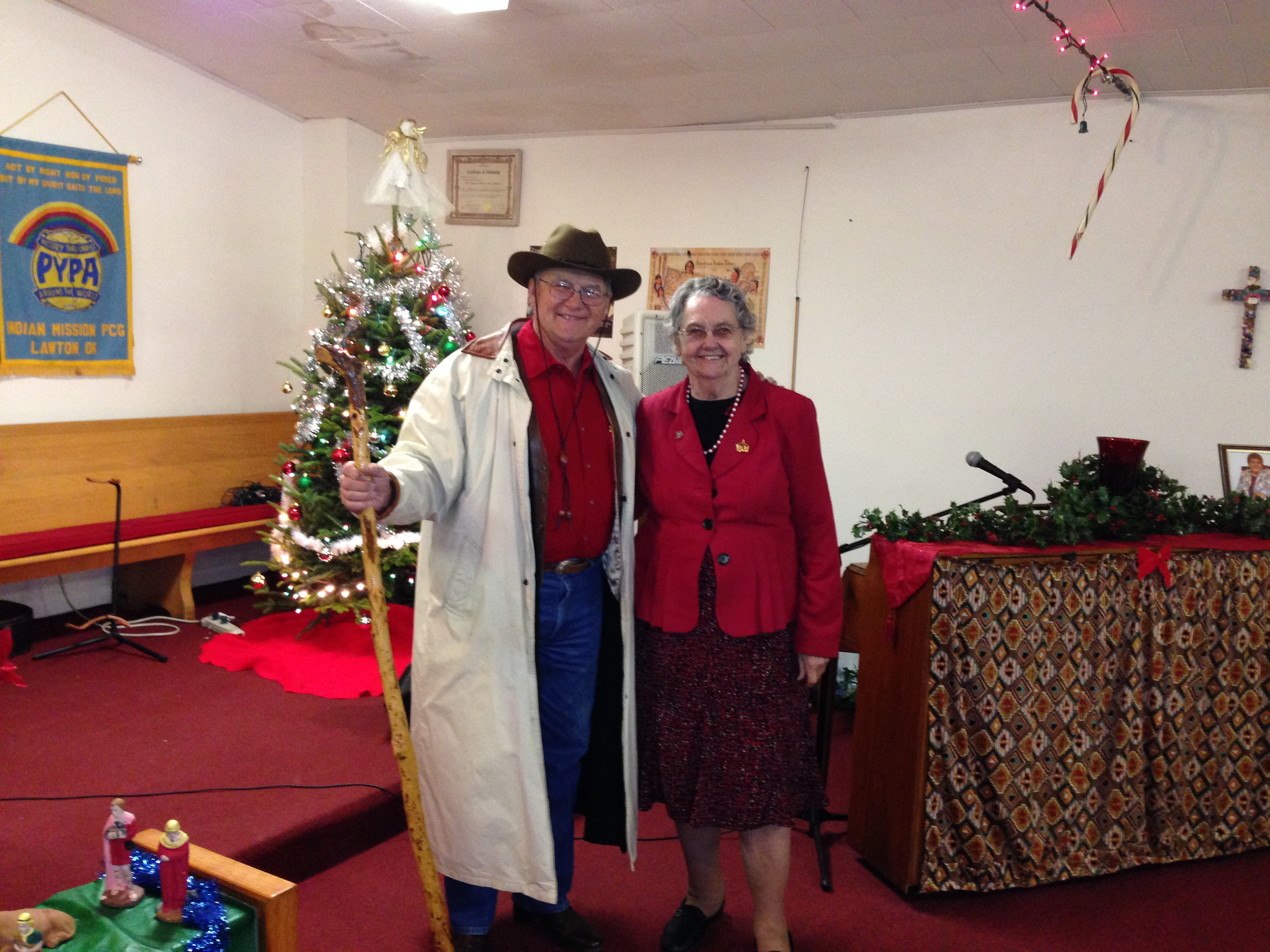 John Gifford and Sister Norma Walker